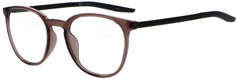 Nike 7280 Eyeglasses in Smokey Mauve Space Blue Frame, Angled to the Side Left