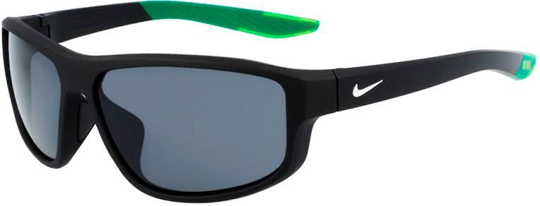 Nike Brazen Fuel Matte Black Frame with Dark Gray Lens, Angled to the Left Side