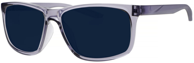 Nike Chaser Ascent Sunglasses in Indigo Haze Frame with Navy Lens. Angled to the Side Left