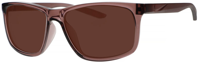 Nike Chaser Ascent Sunglasses in Smokey Mauve Frame with Copper Lens. Angled to the Side Left