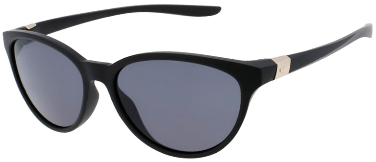Nike City Persona Matte Black Frame with Dark Gray Lens, Angled to the Left Side