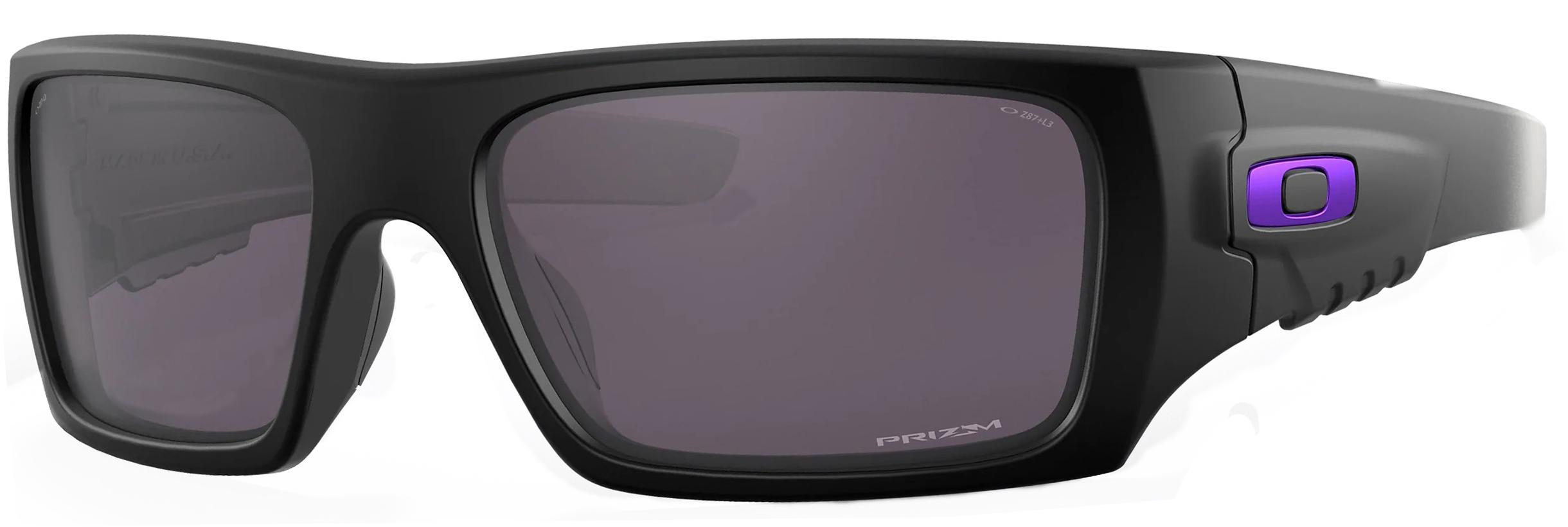 Oakley SI Det Cord Infinite Hero in Matte Black Frame with Prizm Grey Lenses, Angled to the Side Left