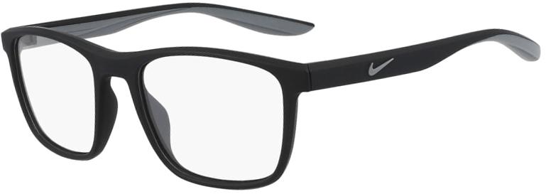 Nike 7038 001 Matte Black Frame Matte Black Lens Angled Side Left