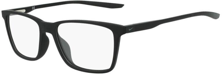 Nike 7286 001 Matte Black Frame Matte Black Lens Angled Side Left