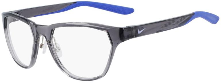 Nike 7400 034 Dark Gray Frame Dark Gray Lens Angled Side Left