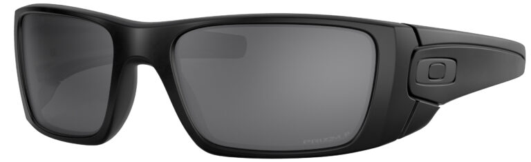 Oakley Standart Issue Fuel Cell Blackside Collection in a Matte Black Frame with Prizm Black Polarized Lens, Angled to the Left Side