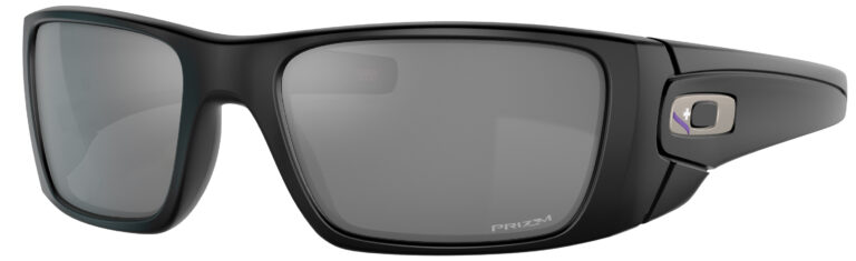 Oakley Standart Issue Fuel Cell Infinite Hero Collection in a Matte Black Frame with Prizm Black Lens, Angled to the Left Side